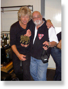 John Lodge meets Mike Heard at Birmingham NEC, 2008