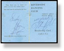 Riverside Dancing Club membership card