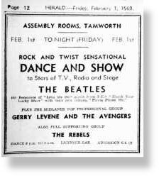 Gerry Levene & The Avengers with The Beatles