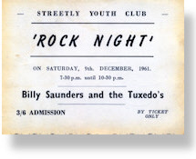 Mike Pinder - Billy Saunders and the Tuxedo's  /  Rocking Tuxedos