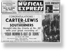 Carter Lewis & The Southerners - Your Mommas Out of Town NME