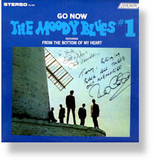 Moody Blues Go Now LP signed Clint Warwick & Rod Clark