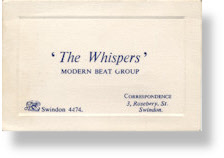 The Whispers - Business Card - Justin Hayward - The Moody Blues