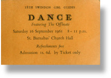 Justin Hayward - The Offbeats Ticket  St. Barnabas Church 1961