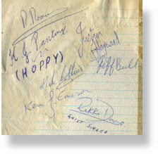 Rebels Rock Group Autographs - Justin Hayward - Moody Blues
